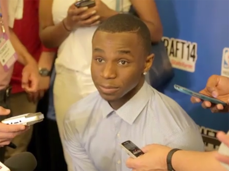 2014 NBA Draft Media Day Interviews: Wiggins, Gordon, Harris