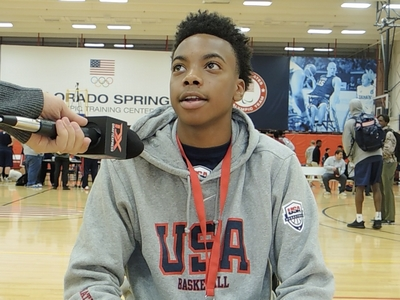 Darius Garland USA Basketball Junior National Team Mini-Camp Interview