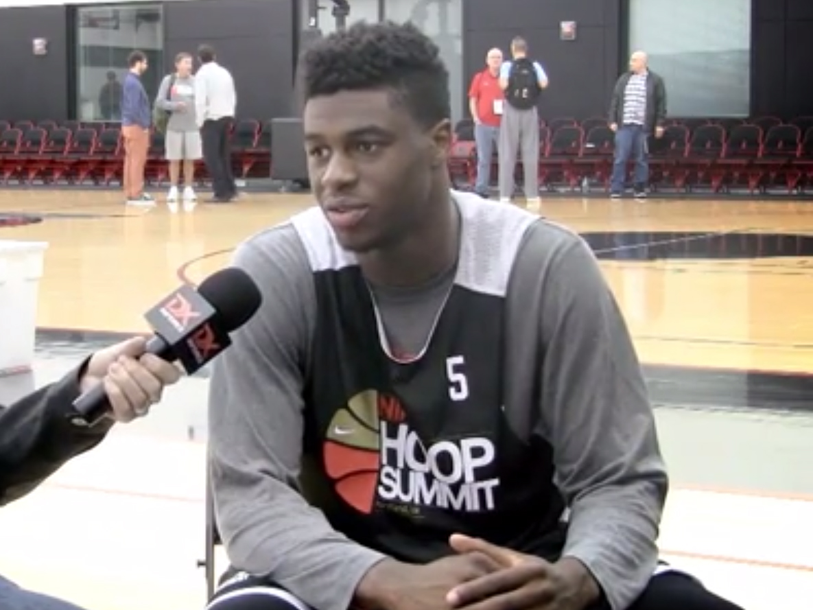 2014 Nike Hoop Summit Video Interview: Emmanuel Mudiay