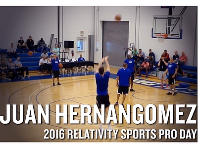 Juan Hernangomez NBA Pro Day Highlights and Interview from IMG Academy