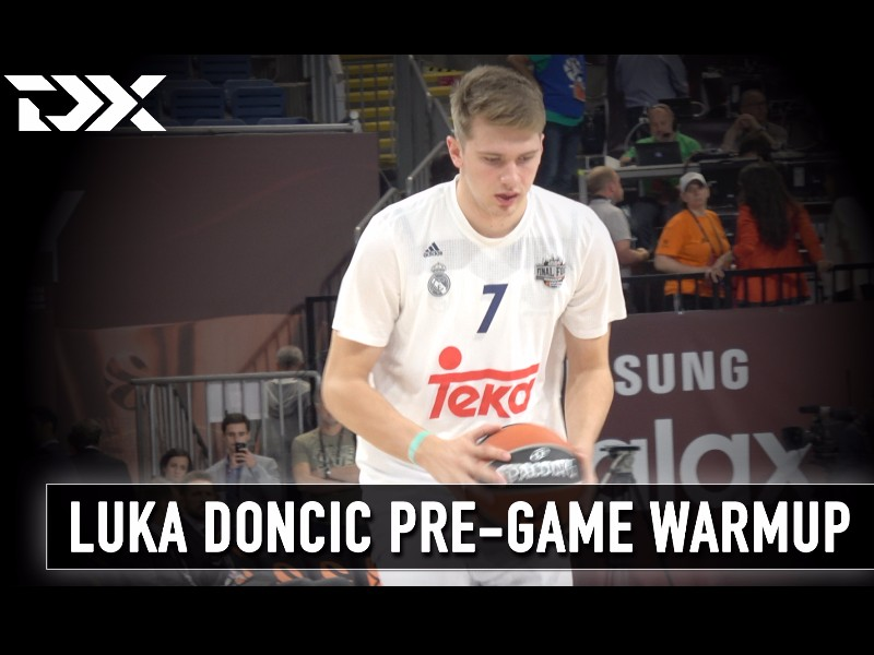 Luka Doncic Pre-Game Warmup at the 2017 Euroleague Final Four