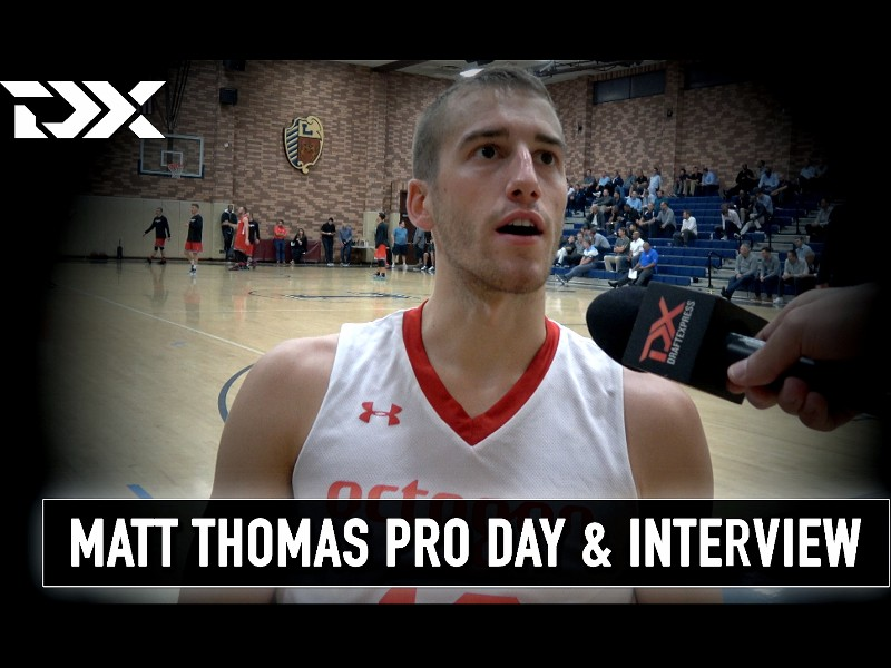 Matt Thomas NBA Pro Day Workout Video and Interview