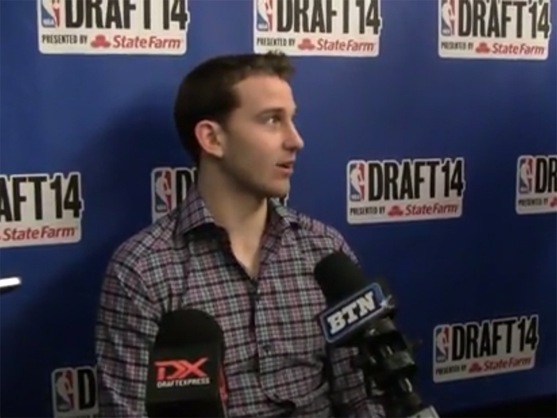 2014 NBA Draft Media Day Interviews: Nik Stauskas and James Young