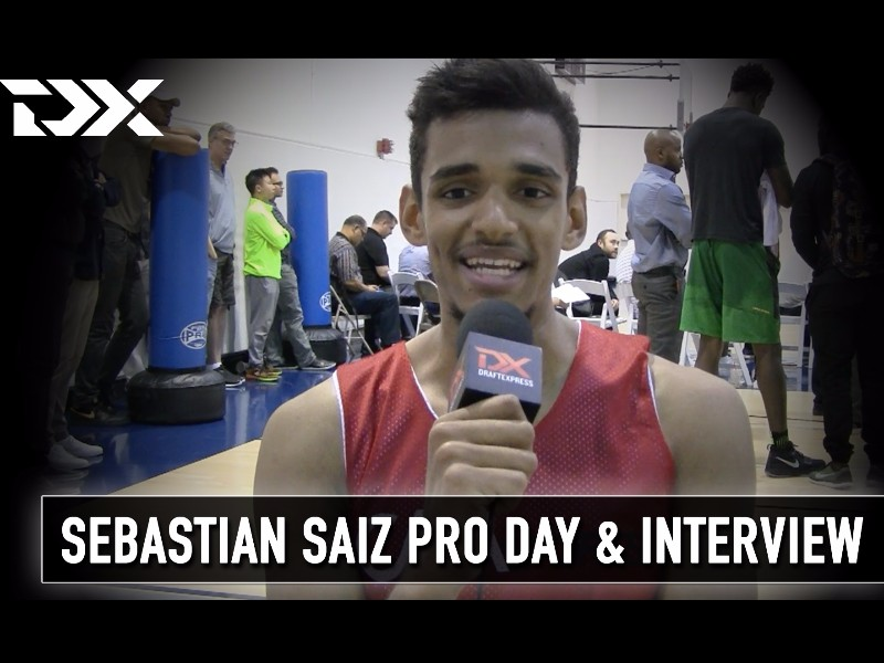 Sebastian Saiz and Tyler Roberson Pro Day Workout Videos/Interviews