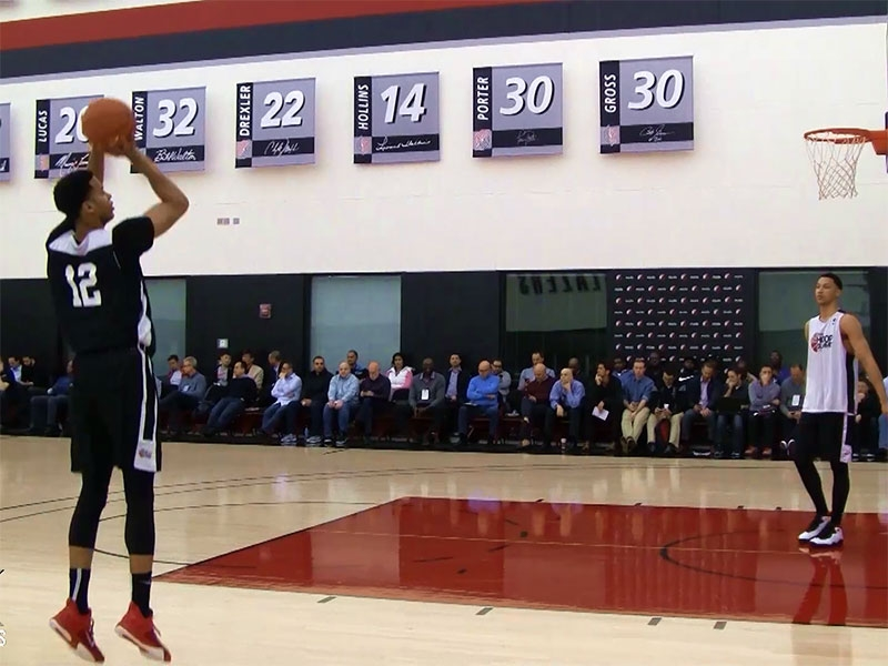 2015 Nike Hoop Summit Shooting Drills: Skal Labissiere