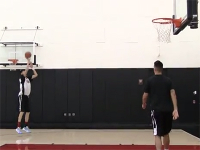 2015 Nike Hoop Summit Shooting Drills: Zhou Qi