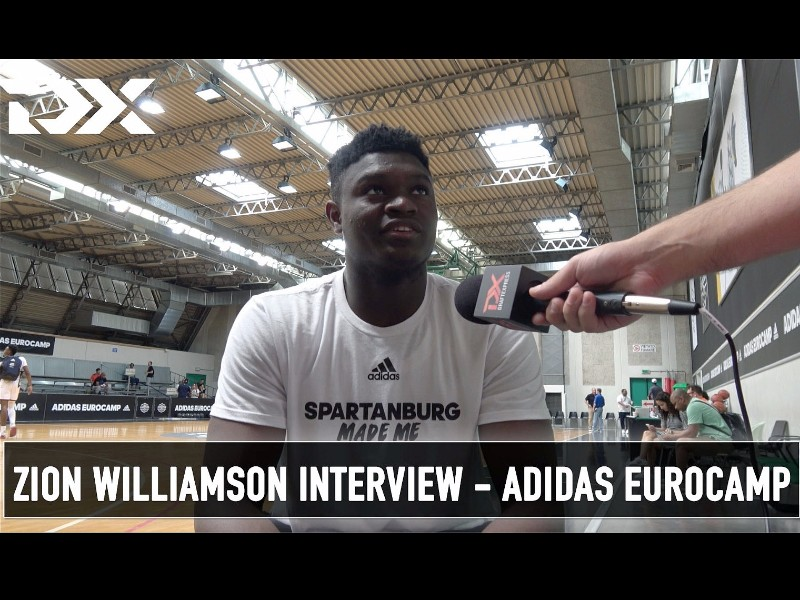 Zion Williamson Adidas Eurocamp Interview