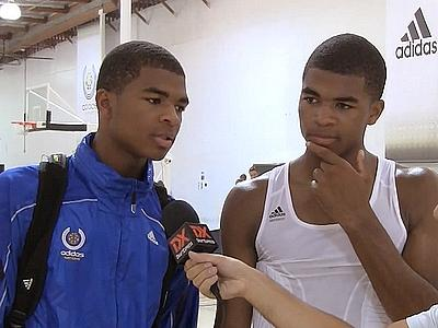 adidas Nations Highlights and Interview: Aaron and Andrew Harrison