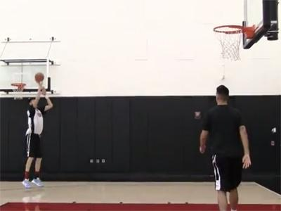 2015 Nike Hoop Summit Shooting Drills: Zhou Qi
